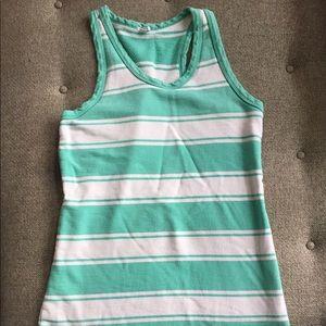 J. Crew Mint green striped tank dress size xs